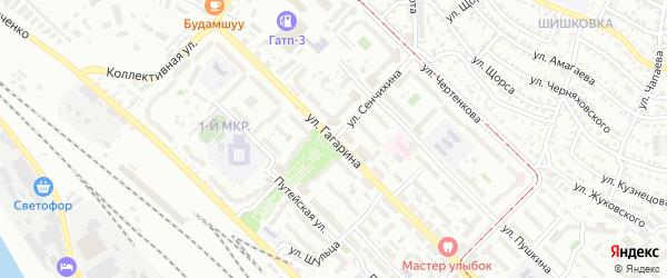 Улица Сенчихина на карте Улан-Удэ с номерами домов