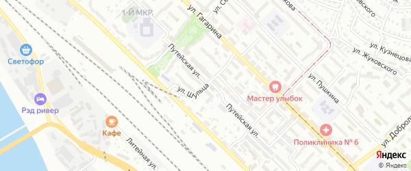 Улица Шульца на карте Улан-Удэ с номерами домов