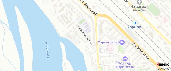 Партизанская улица на карте Улан-Удэ с номерами домов