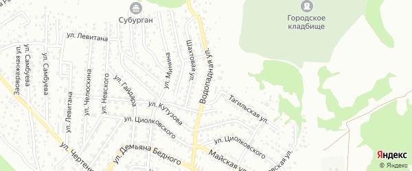 Водопадная улица на карте Улан-Удэ с номерами домов