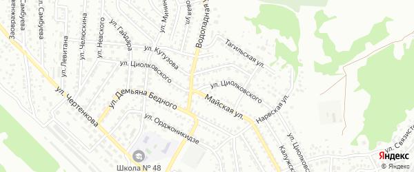 Улица Циолковского на карте Улан-Удэ с номерами домов