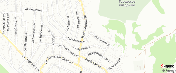 Тагильская улица на карте Улан-Удэ с номерами домов