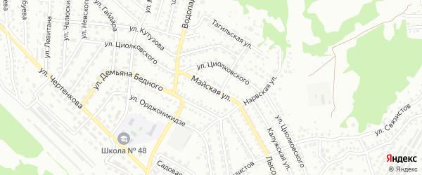 Майская улица на карте Улан-Удэ с номерами домов