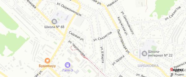 Улица 3 Интернационала на карте Улан-Удэ с номерами домов