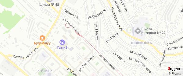Хабаровская улица на карте Улан-Удэ с номерами домов