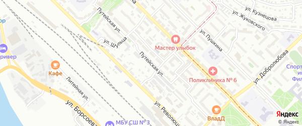 Путейская улица на карте Улан-Удэ с номерами домов