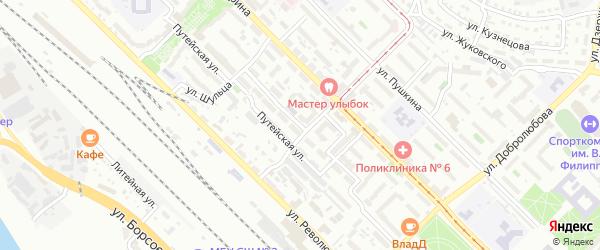 Улица Клыпина на карте Улан-Удэ с номерами домов