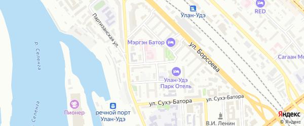 Улица Модогоева на карте Улан-Удэ с номерами домов