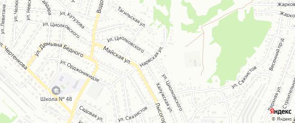 Нарвская улица на карте Улан-Удэ с номерами домов