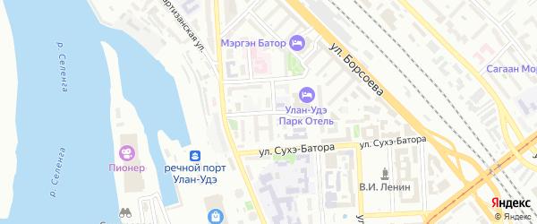 Улица Ямпилова на карте Улан-Удэ с номерами домов