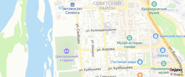 Улица Шмидта на карте Улан-Удэ с номерами домов
