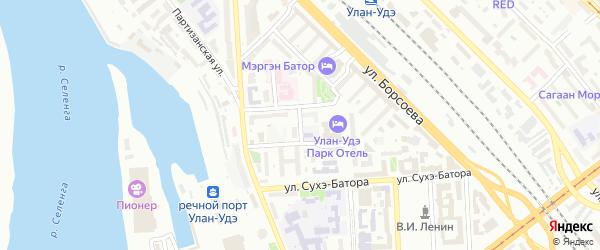 Улица Надежды на карте Улан-Удэ с номерами домов