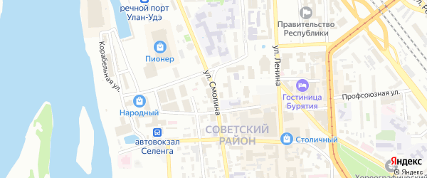 Улица Смолина на карте Улан-Удэ с номерами домов