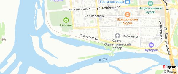 Кузнечная улица на карте Улан-Удэ с номерами домов