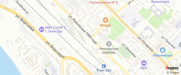Улица Революции 1905 года на карте Улан-Удэ с номерами домов