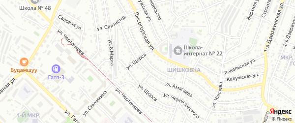 Бородинский проезд на карте Улан-Удэ с номерами домов