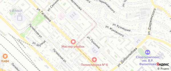 Улица Юного Коммунара на карте Улан-Удэ с номерами домов