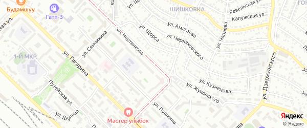 Улица Чертенкова на карте Улан-Удэ с номерами домов