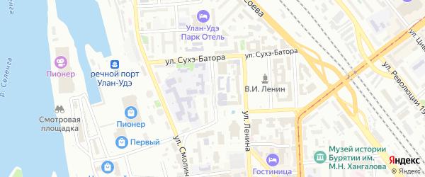 Улица Ранжурова на карте Улан-Удэ с номерами домов