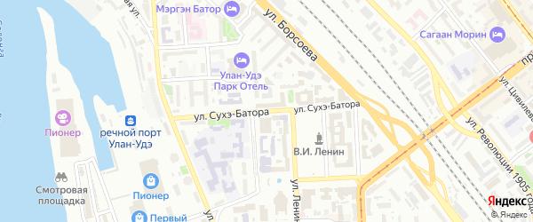 Улица Сухэ-Батора на карте Улан-Удэ с номерами домов