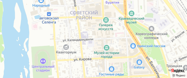 Улица Каландаришвили на карте Улан-Удэ с номерами домов