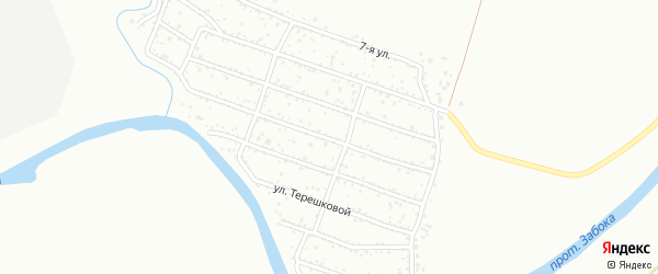Квартал 1А на карте территории ДНТ Ранета с номерами домов
