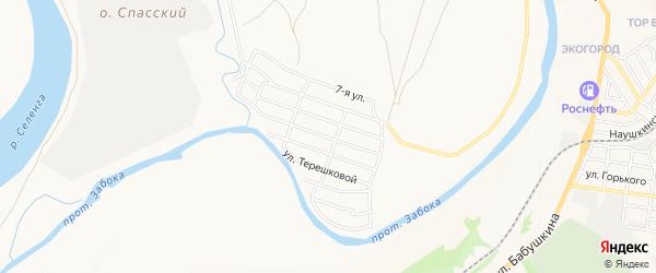 Карта территории ДНТ Облепихового города Улан-Удэ в Бурятии с улицами и номерами домов