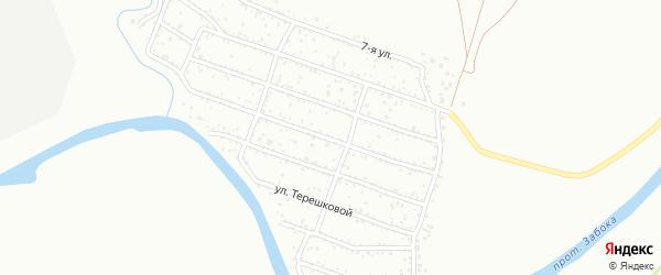 Улица Яблочная проезд 1 на карте территории ДНТ Ранета с номерами домов