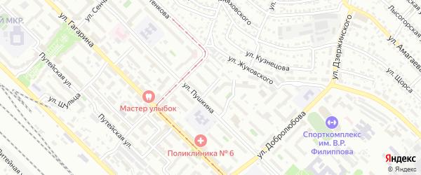 Улица Бестужева на карте Улан-Удэ с номерами домов