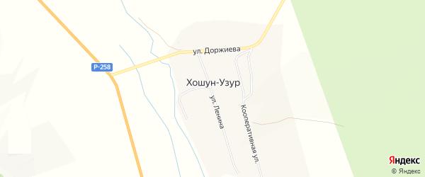 Карта улуса Хошун-Узур в Бурятии с улицами и номерами домов