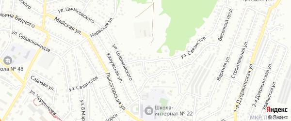 Улица Связистов на карте Улан-Удэ с номерами домов