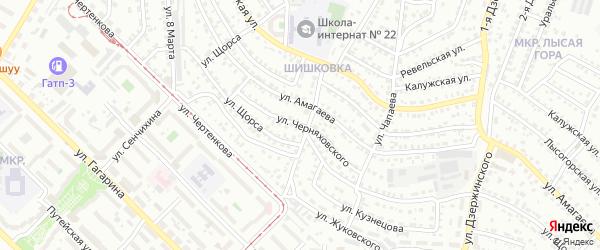 Улица Черняховского на карте Улан-Удэ с номерами домов
