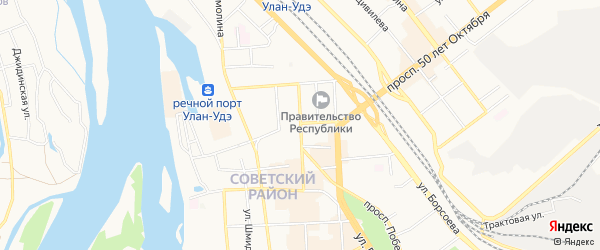 Территория ДНТ Карнед на карте Улан-Удэ с номерами домов