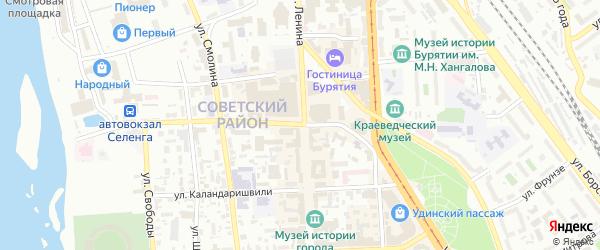 Советская улица на карте Улан-Удэ с номерами домов