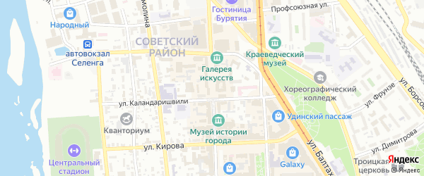 Улица Ленина на карте Улан-Удэ с номерами домов