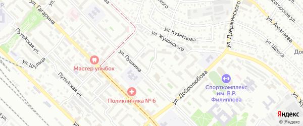 Улица Милютина на карте Улан-Удэ с номерами домов