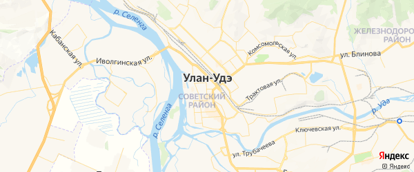 Карта Улан-Удэ с районами, улицами и номерами домов