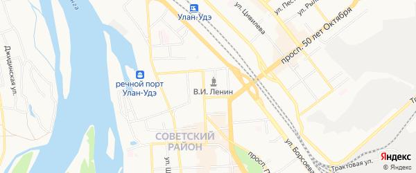 Территория ДНТ Энергостроитель на карте Улан-Удэ с номерами домов
