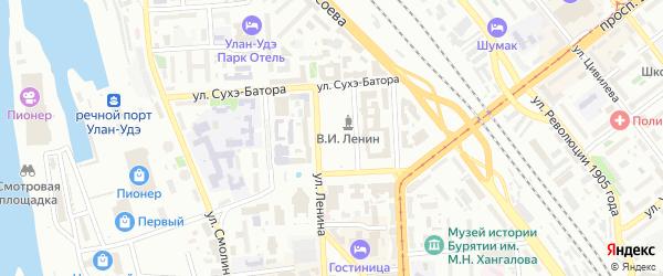 Главная улица на карте территории ДНТ Академического с номерами домов