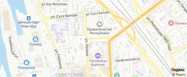 Улица Ербанова на карте Улан-Удэ с номерами домов
