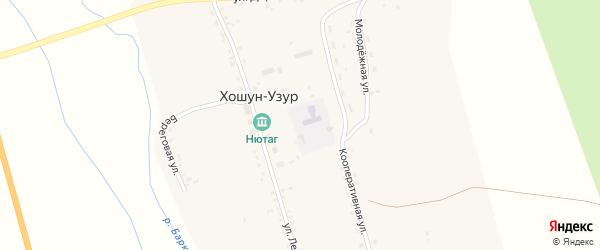 Улица Доржиева на карте улуса Хошун-Узур с номерами домов