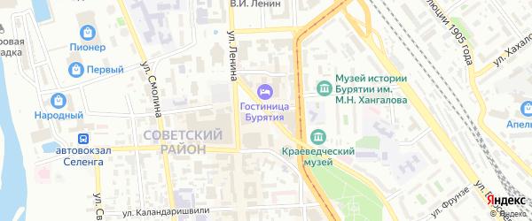Почтамтская улица на карте Улан-Удэ с номерами домов