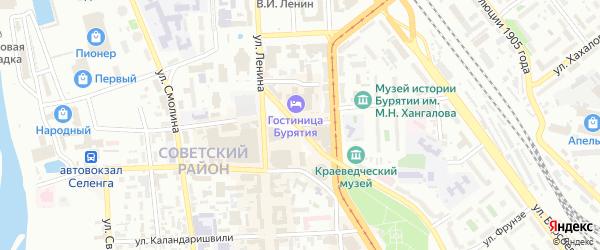 Профсоюзная улица на карте Улан-Удэ с номерами домов
