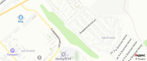 Улица Академическая проезд 6 на карте Улан-Удэ с номерами домов