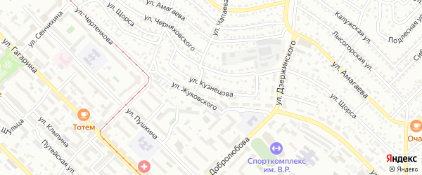 Улица Кузнецова на карте Улан-Удэ с номерами домов