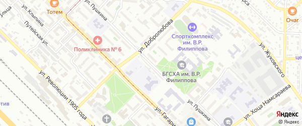 Улица Пушкина на карте Улан-Удэ с номерами домов