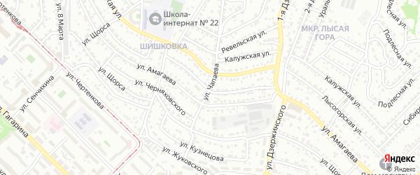Улица Чапаева на карте Улан-Удэ с номерами домов