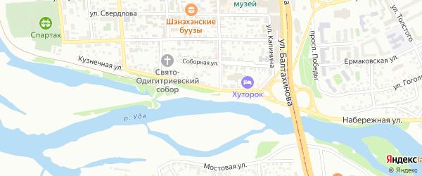 Набережная улица на карте Улан-Удэ с номерами домов