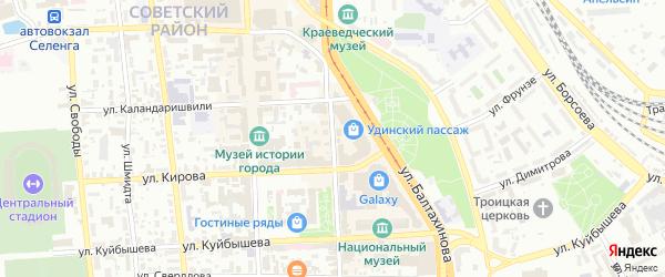 Коммунистическая улица на карте Улан-Удэ с номерами домов