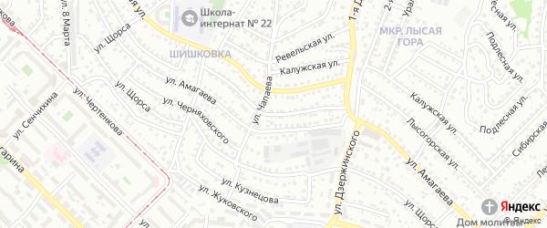 Промышленный проезд на карте Улан-Удэ с номерами домов